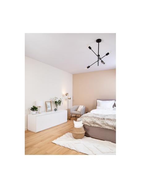 Credenza bassa bianca con ante Join, Pannello di fibra a media densità verniciato, Bianco, Larg. 180 x Alt. 57 cm