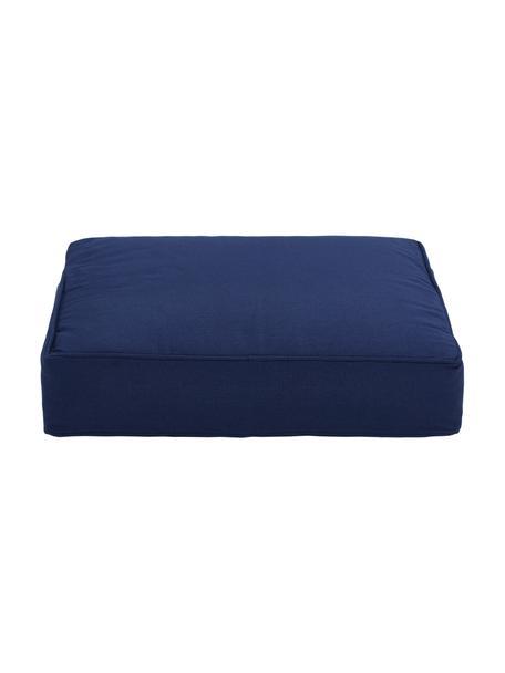 Hoog stoelkussen Zoey in donkerblauw, Blauw, 40 x 40 cm
