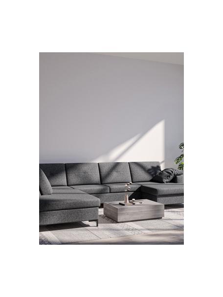 Sofa narożna XL z funkcją spania i miejscem do przechowywania Moor, Tapicerka: 100% poliester z systemem, Stelaż: drewno liściaste, drewno , Nogi: drewno lakierowane Dzięki, Antracytowy, S 335 x G 235 cm