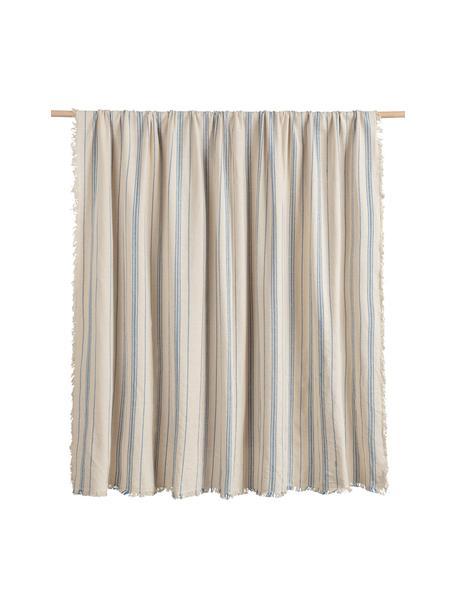 Narzuta z bawełny Capri, 100% bawełna, Odcienie kremowego, niebieski, S 180 x D 260 cm (dla łóżek do 140 x 200)