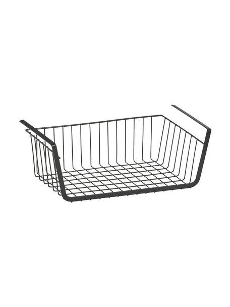 Unterboden-Regal Jannis, Metall, beschichtet, Schwarz, 41 x 15 cm