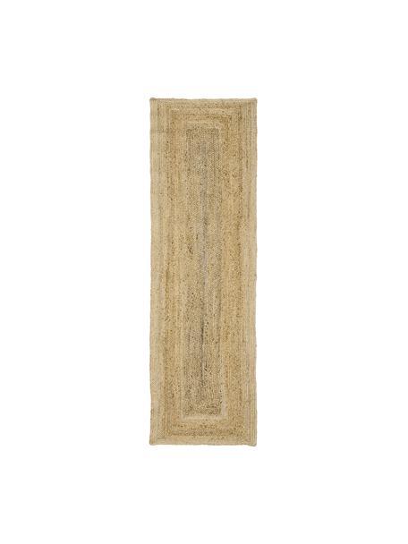 Ręcznie wykonany chodnik z juty Sharmila, 100% juta, Beżowy, S 80 x D 250 cm