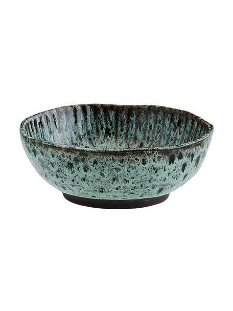 Miska z kamionki Vingo, 2 szt., Kamionka, Niebieskozielony, czarny, Ø 18 cm