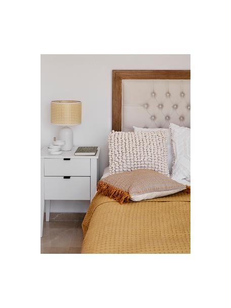Poszewka na poduszkę Iona, Kremowobiały, S 45 x D 45 cm