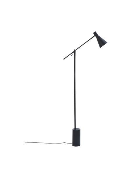 Lámpara de lectura Sia, estilo retro, Pantalla: metal con pintura en polv, Cable: cubierto en tela, Negro, Ø 14 x Al 162 cm