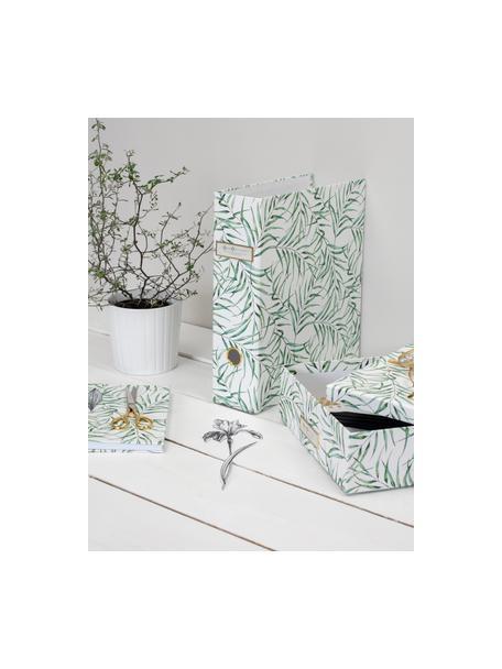 Dokumentenordner Leaf, Weiß, Grün, 29 x 32 cm