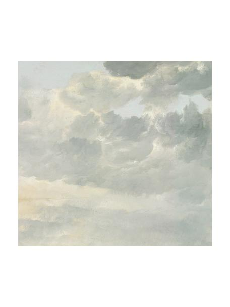 Papel pintado Golden Age Clouds, Tejido no tejido, ecológica y biodegradable, Gris, beige mate, An 292 x Al 280 cm