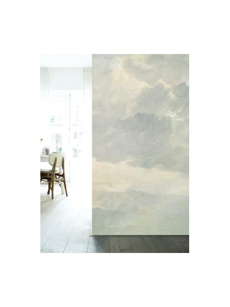 Carta da parati Golden Age Clouds, Pelo ecologico e biodegradabile, Grigio, beige opaco, Larg. 292 x Alt. 280 cm