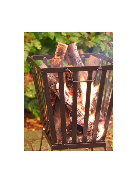 Feuerkorb Quare in Schwarz, Metall, beschichtet, Schwarz, 33 x 58 cm