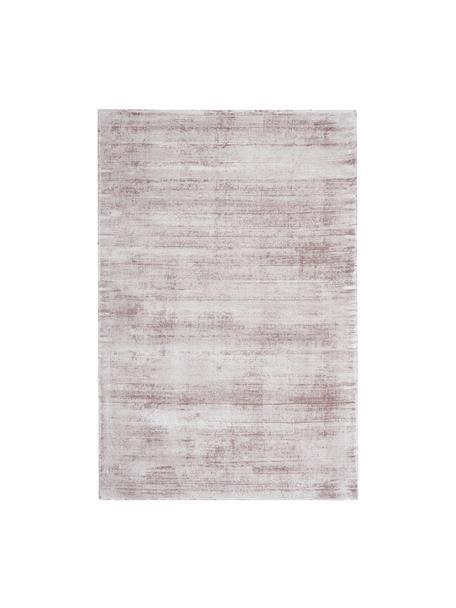 Alfombra artesanal de viscosa Jane, Parte superior: 100%viscosa, Reverso: 100%algodón, Lila, An 90 x L 150 cm (Tamaño XS)