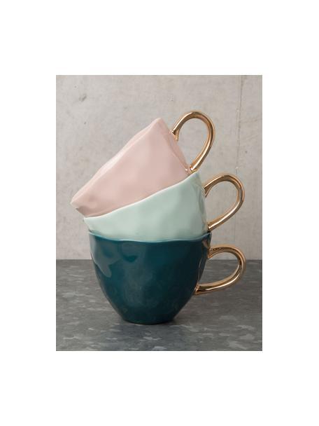 Kubek  Good Morning, Kamionka, Blady różowy, odcienie złotego, Ø 11 x W 8 cm