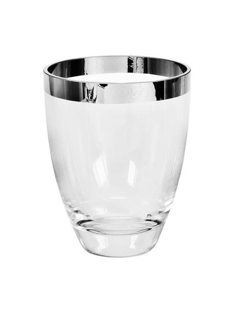 Mundgeblasene Vase Charlotte aus Platinglas, Platinglas, Transparent, Ø 12 x H 16 cm
