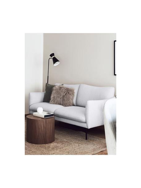 Sofa Moby (2-Sitzer) in Hellgrau mit Metall-Füssen, Bezug: Polyester Der hochwertige, Gestell: Massives Kiefernholz, Webstoff Hellgrau, B 170 x T 95 cm