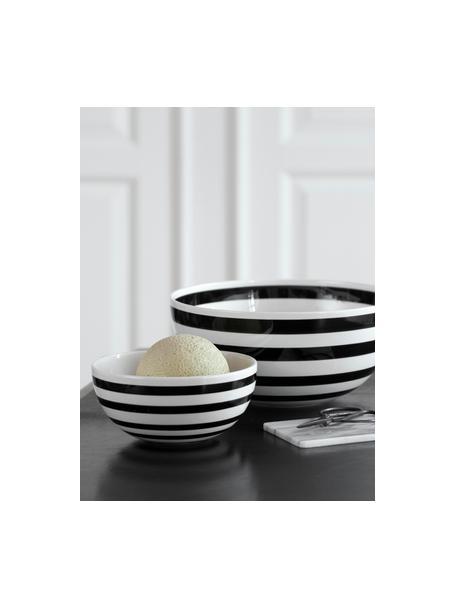 Ensaladera de cerámica Omaggio, Cerámica, Negro, blanco, Ø 30 x Al 14 cm