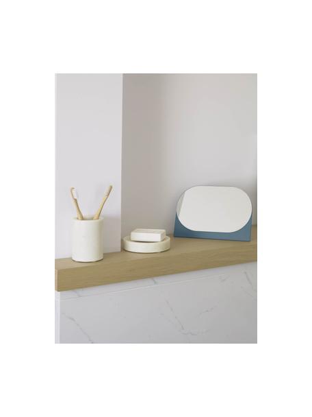 Kosmetikspiegel Mica, Sockel: Mitteldichte Holzfaserpla, Spiegelfläche: Spiegelglas, Grau, 23 x 16 cm