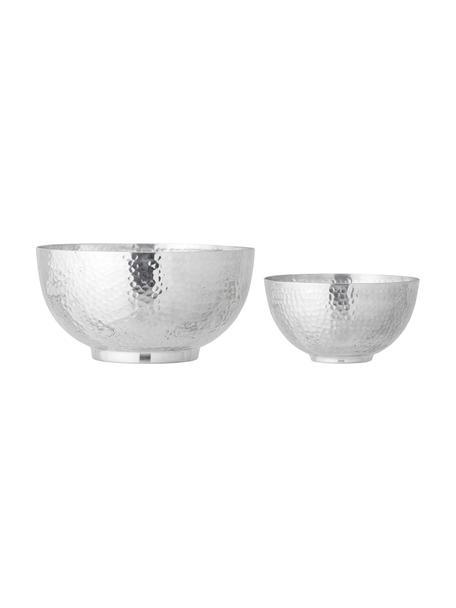 Schalen Dalton van aluminium in verschillende formaten, 2-delig, Gehamerd aluminium, Zilverkleurig, Set met verschillende formaten