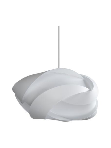 Grote hanglamp Ribbon, bouwpakket, Lampenkap: polypropyleen, polycarbon, Baldakijn: kunststof, Wit, Ø 60  x H 28 cm