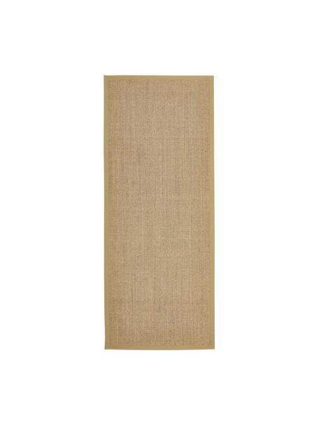 Alfombra Leonie, Parte superior: 100%fibra de sisal, Reverso: látex, Beige, An 80 x L 200 cm