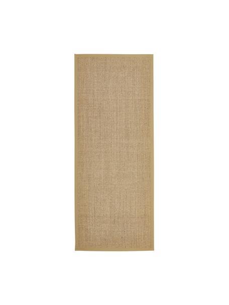 Sisal loper Leonie in beige, Bovenzijde: 100% sisal vezels, Onderzijde: latex, Beige, 80 x 200 cm
