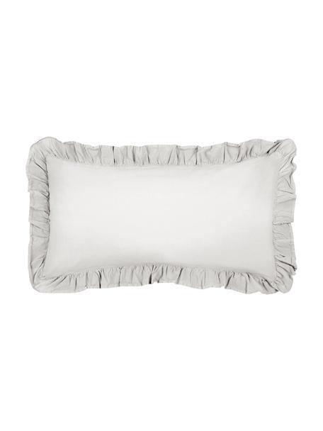 Poszewka na poduszkę z bawełny z efektem sprania Florence, 2 szt., Jasny szary, S 40 x D 80 cm