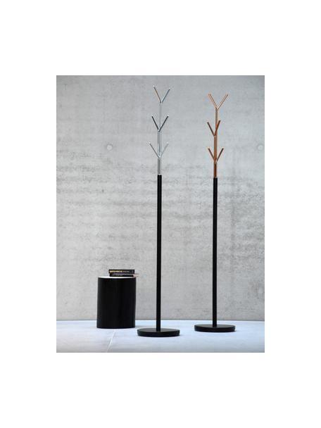 Perchero de pie London, 6ganchos, Estructura: acero tubular con pintura, Negro, cromo, Ø 31 x Al 177 cm