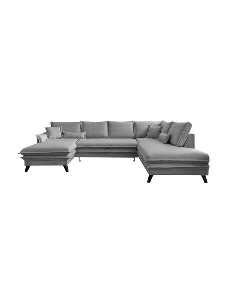 Sofa narożna z funkcją spania i schowkiem Charming Charlie, Tapicerka: 100% poliester, w dotyku , Stelaż: drewno naturalne, płyta w, Szary, S 302 x G 200 cm