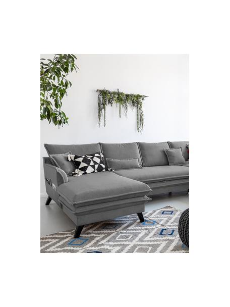Sofá cama rinconero Charming Charlie, con espacio de almacenamiento, Tapizado: 100%poliéster tacto de l, Estructura: madera, aglomerado, Gris, An 302 x F 200 cm