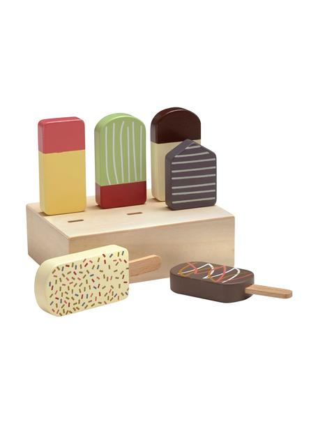 Spielzeug-Set Ice Cream, Holz, Mehrfarbig, 9 x 12 cm
