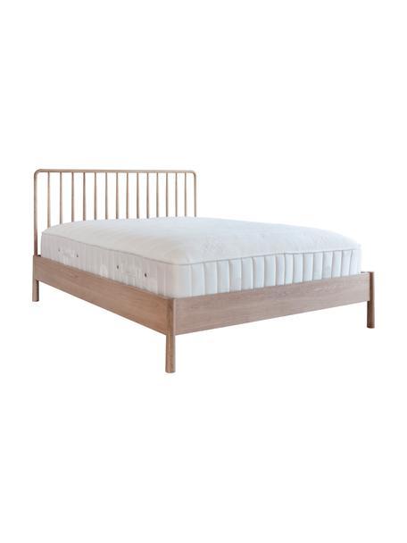 Łóżko z drewna dębowego Wycombe, Drewno dębowe, S 180 x D 200 cm
