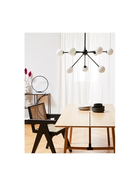 Lámpara de techo grande Space, Estructura: metal con pintura en polv, Anclaje: metal con pintura en polv, Cable: cubierto en tela, Negro, An 81 x F 71 cm