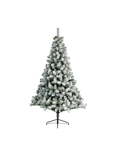 Künstlicher Weihnachtsbaum North Pole, beschneit, Fuß: Metall, beschichtet, Grün, Weiß, Ø 117 x H 180 cm