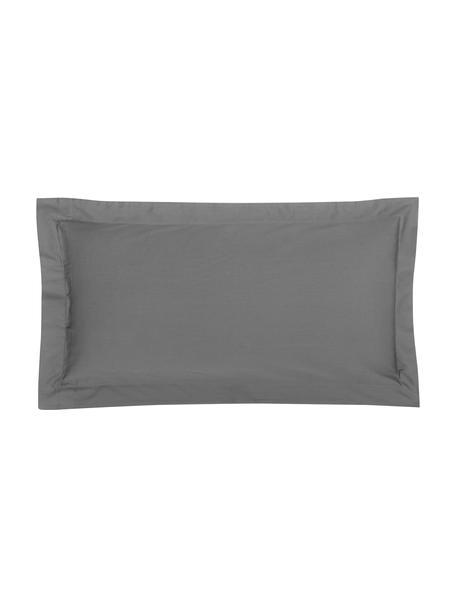 Satin-Kissenbezüge Premium aus Bio-Baumwolle in Dunkelgrau mit Stehsaum, 2 Stück, Webart: Satin Fadendichte 400 TC,, Dunkelgrau, 40 x 80 cm