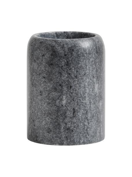 Zahnputzbecher Aggaz, Marmor, Grau, marmoriert, Ø 8 x H 10 cm