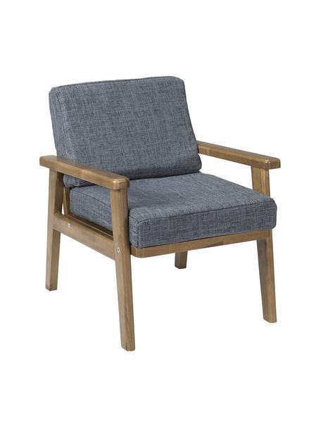 Kindersessel Lounge, Bezug: Polyester, Gestell: Gummibaumholz, Grau, Braun, 40 x 35 cm