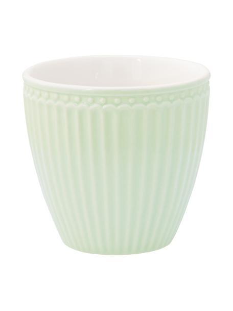 Tazas artesanales Alice, 2uds., Gres, Verde pastel, Ø 10 x Al 9 cm