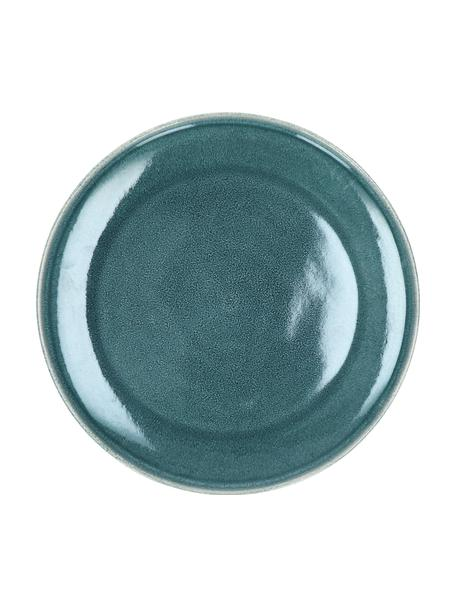 Platos llano de gres Audrey, 2uds., Gres, Verde azulado, Ø 28 cm