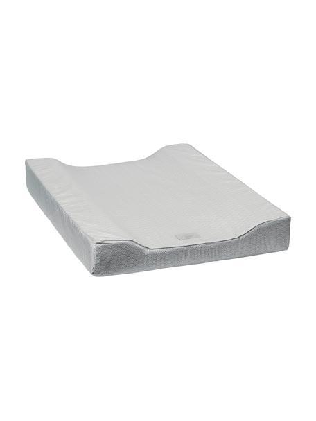 Colchón cambiador Wave, Exterior: 100% algodón ecológico, c, Gris, blanco, An 50 x L 65 cm