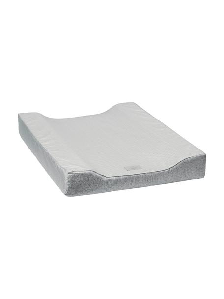 Fasciatoio in cotone organico Wave, Grigio, bianco, Larg. 50 x Lung. 65 cm