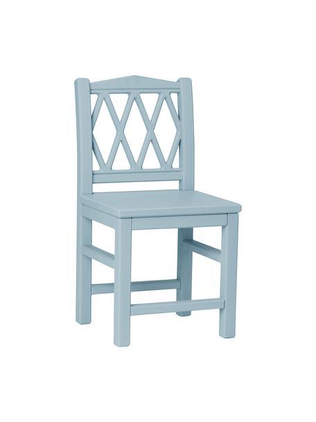 Krzesło dla dzieci z drewna Harlequin, Drewno brzozowe, płyta pilśniowa (MDF), malowane farbą wolną od LZO, Niebieski, S 30 x W 58 cm