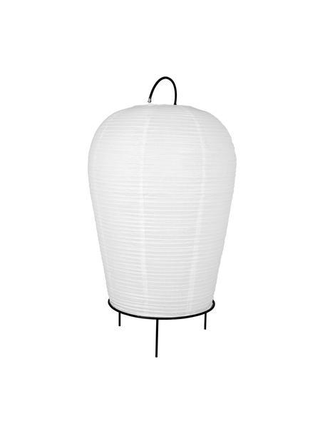 Lámpara de pie de papel Osaka, Pantalla: papel, Cable: cubierto en tela, Blanco, negro, Ø 50 x Al 90 cm