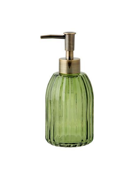Dosificador de jabón Aldgate, Recipiente: vidrio, Dosificador: plástico, Verde, Ø 7 x Al 17 cm