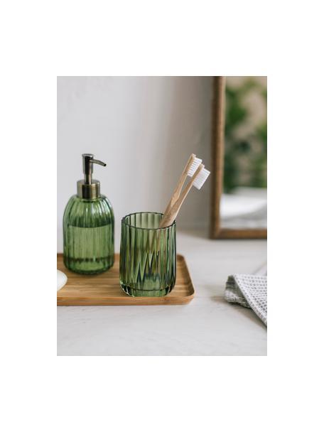 Dispenser sapone Aldgate, Contenitore: vetro, Testa della pompa: materiale sintetico, Verde, Ø 7 x Alt. 17 cm