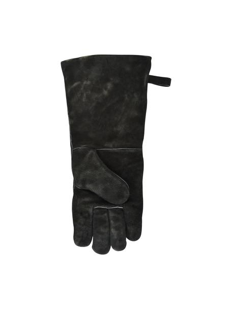 Barbecue handschoen Protect, 65% rundersplitleer 25% polyester, 10% katoen, Zwart, 19 x 41 cm