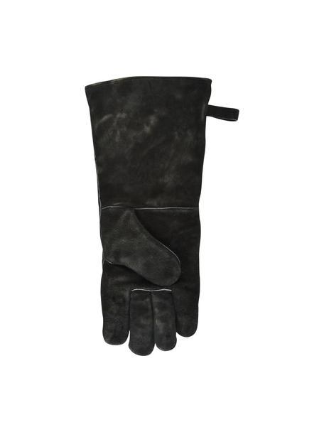 Rękawica do grilla Protect, 65% dwoina bydlęca, 25% poliester, 10% bawełna, Czarny, S 19 x W 41 cm