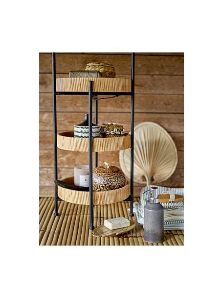 Aufbewahrungskörbe-Set Lidia, 2-tlg., Korb: Bambus, Dekor: Muscheln, Braun, Beige, Set mit verschiedenen Größen