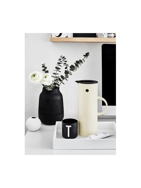 Brocca isotermica color bianco crema lucido EM77, 1 L, Plastica ABS, interno con inserto in vetro, Bianco crema lucido, 1 L