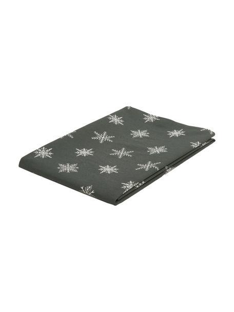 Tafelkleed Snow, 100% katoen, afkomstig van duurzame katoenteelt, Groen, wit, 145 x 200 cm