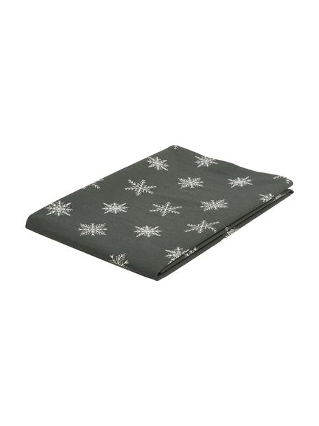 Tischdecke Snow, 100% Baumwolle, aus nachhaltigem Baumwollanbau, Grün, Weiß, 145 x 200 cm