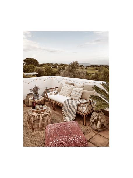 Cuscino da pavimento vintage Rebel, Rivestimento: 95% cotone, 5% poliestere, Rosso ruggine, crema, rosso, Larg. 70 x Alt. 26 cm