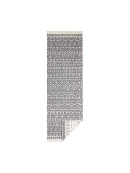 Dwustronny chodnik wewnętrzny/zewnętrzny Kuba, Szary, kremowy, S 80 x D 250 cm